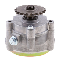 Aluminum Alloy Transmission GearBox 17T Gear Box for 47CC 49CC 2/4 Stroke Clutch Motor ATV Go Kart Mini Bike