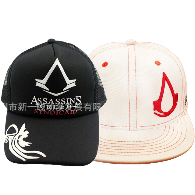 Assassins Creed Syndicate Video Game Hat Summer Breathable Black Mesh Baseball Cap Snapback Men Women Fashion Assasins Wholesale