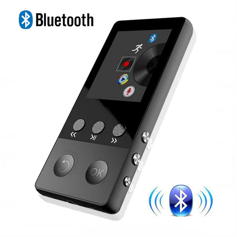 2018 New Metal Bluetooth MP4 Player 8GB 1,8 inch Scherm 50 uur spelen met FM-radio E-book Audio Videospeler Portable Walkman