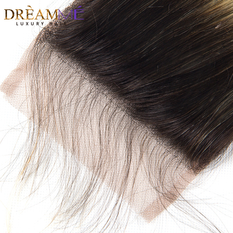 Dreamme Hair 1B / 613 Body Wave 4x4 Fermeture À Lacets Ombre - Cheveux humains (noir) - Photo 4