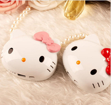 Cute Mobile Phone 12000 mAh PowerBank Hello Kitty 3D Cartoon Design Charger For iphone for samsung with Package gifts