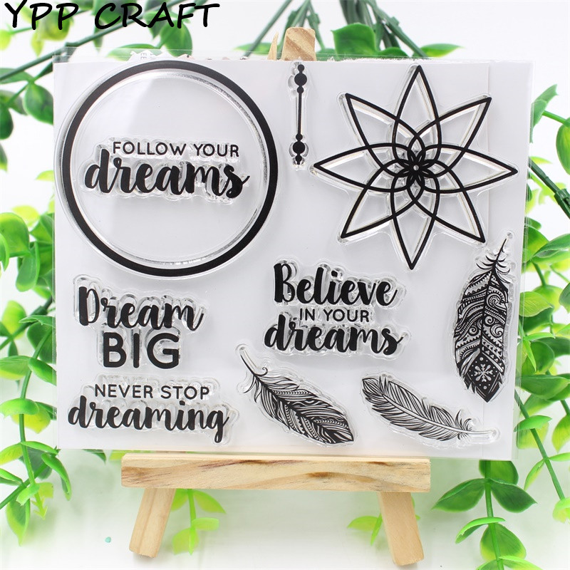 YPP CRAFT Follow Your Dream Transparent Clear Silicone Stamp/Seal for DIY scrapbooking/photo album Decorative clear stamp sheets