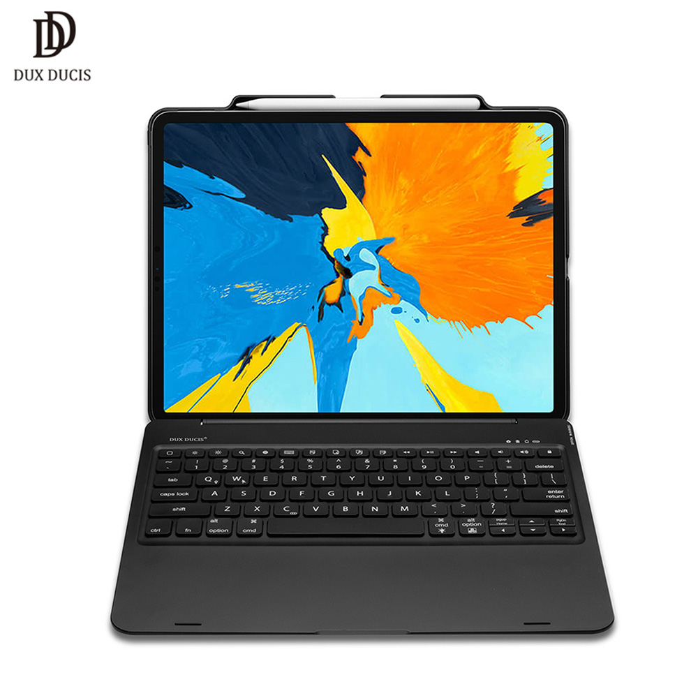 DUX DUCIS Flip Wireless Keyboard Case for iPad Pro 12 9 2018 Smart Bluetooth Keyboard Tablet