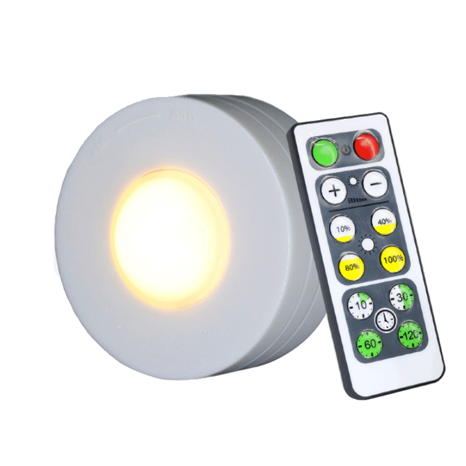 Dimmable Touch Sensor Remote led Cabinet Light LED Puck