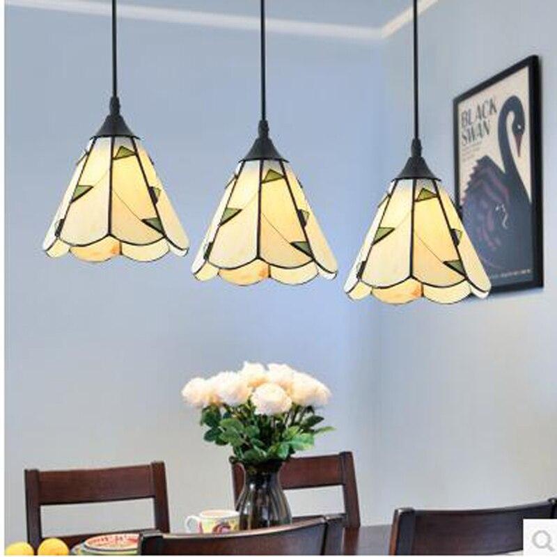 Glass chandelier Mediterranean restaurant creative three American chandeliers warm pastoral chandeliers CL DF76 LU1023 кпб cl 29
