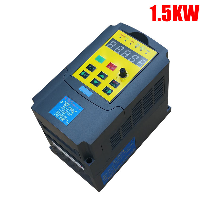 220V 1.5KW Inverter Single Phase input and 220V 3 Phase Output Frequency Converter Speed Drive Motor Frequency Inverter VFD baileigh wl 1840vs heavy duty variable speed wood turning lathe single phase 220v 0 to 3200 rpm inverter driven