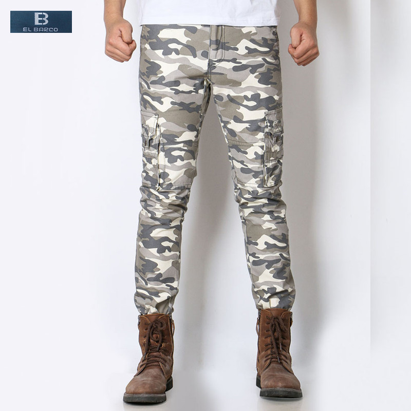 Careful [el Barco] Cotton Military Men Cargo Pants Soft Breathable Camouflage Clothing Khaki Grey Army Green Male Long Casual Trousers