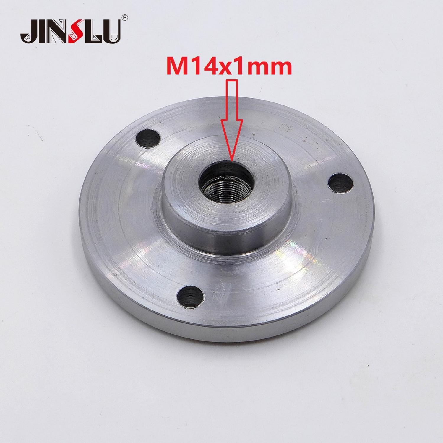 M14x1mm M14 Spindle Thread Chuck Flange Back Plate Base Plate Adapter Plate K11-80 K12-80  K11-100 K12-100  K11-125 K12-125
