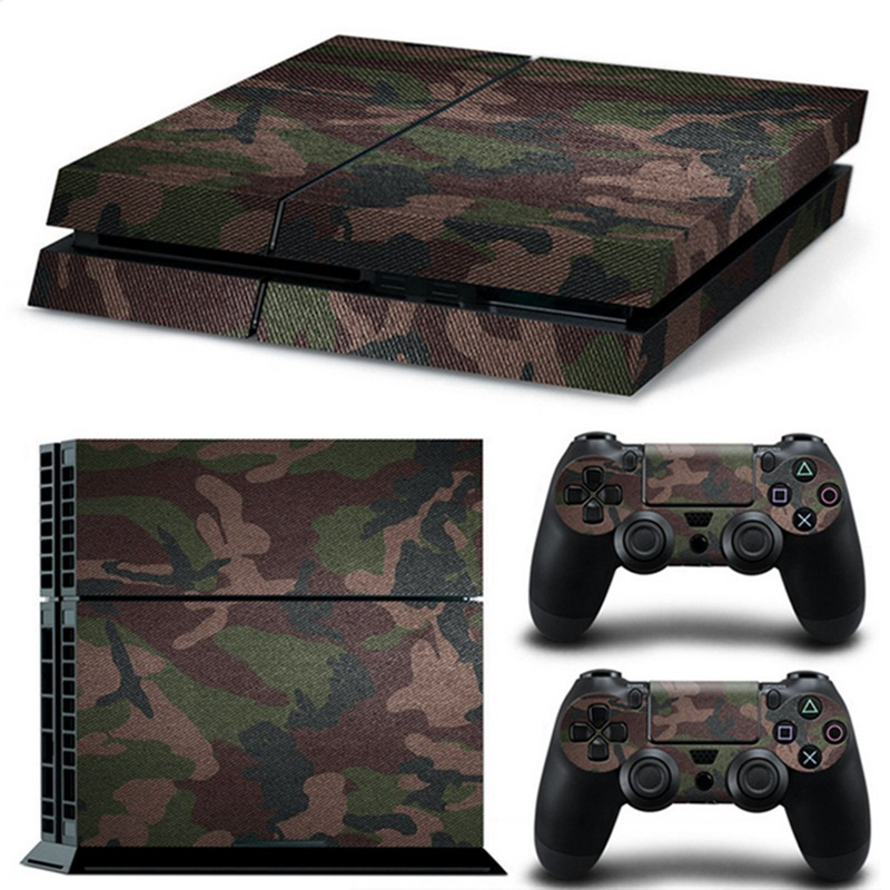 For PS4 New Camouflag Cover Skin Stickers Decal For Playstation 4 Console With 2 Controller Skins Gaming Console Sticker