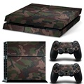 Top Selling NEW Camouflag Cover Skin Stickers Decal For Playstation 4 For PS4 Console With 2 Controller Skins