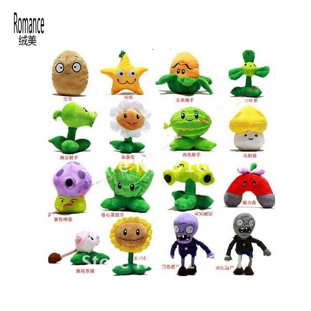 Atacado e varejo de brinquedos de pelúcia plantas Vs Zombies brinquedos de pelúcia brinquedos de pelúcia 18 pçs/set fornecimento de fábrica