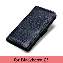 Original Crocodile Grain Leather Case for Black Berry Z3 Luxury Handmade Customized Genuine Leather Case Cover for Blackberry Z3