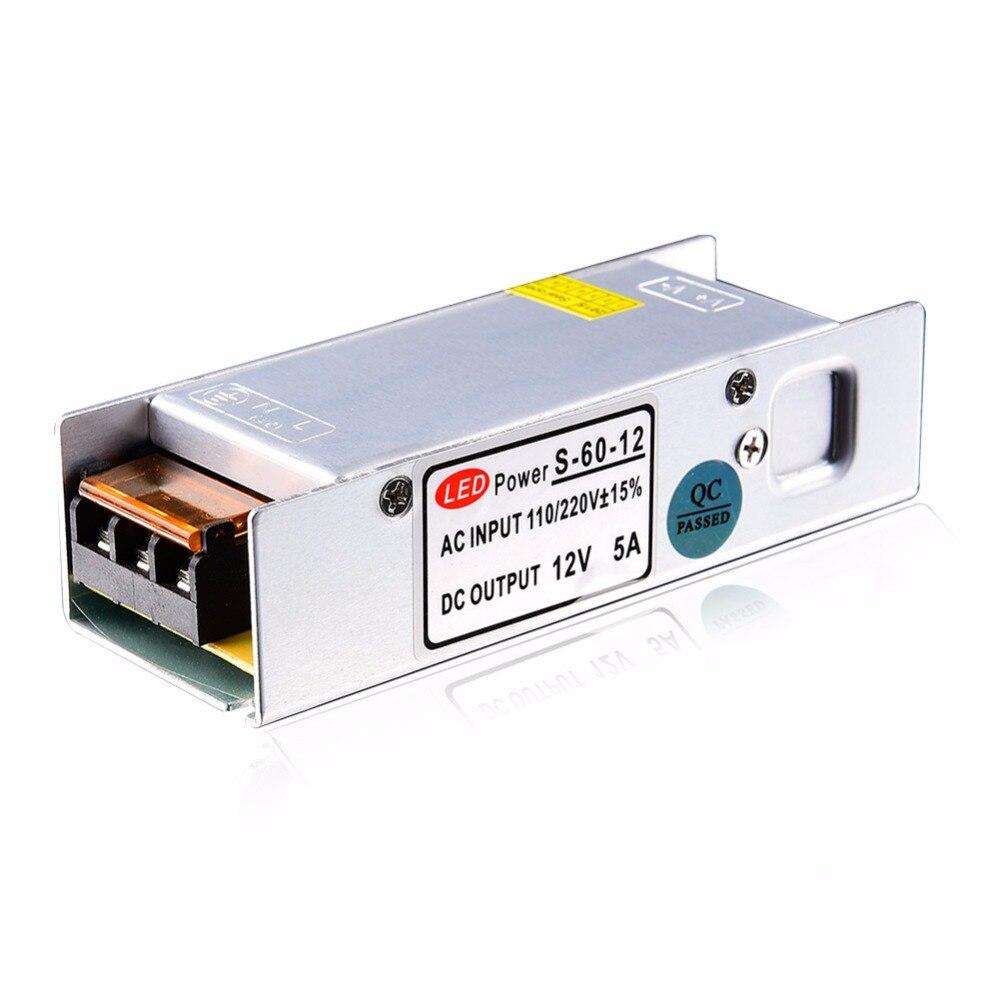 LED de alimentación 5a 60 W y 100 W 120 W 150 W 200 W LED driver Adaptadores de corriente de conmutación 110 V 220 V a 12 V 24 V transformador para LED tira