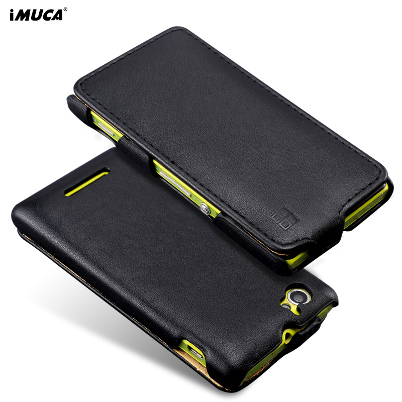 Galleria fotografica For <font><b>Sony</b></font> Xperia M C1905 Case iMUCA Leather Flip Case for <font><b>Sony</b></font> Xperia M C1904 C1905 Phone Case Cover For <font><b>Sony</b></font> Xperia M Dual C2005