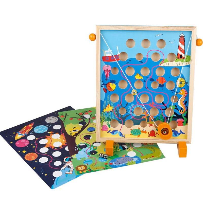 Image 2 - Childrens toys Kindergarten Dongyi Intelligence Desktop parent child interaction balance hand eye coordination Balance gameColor & Shape   -