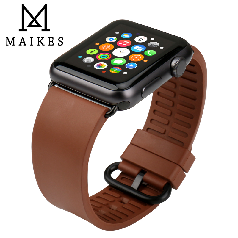MAIKES Watch Accessories Sports Apple Watch Bands 44mm