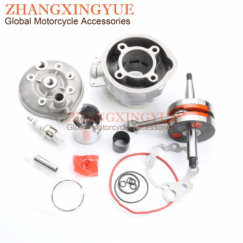90cc Cylinder Kit & Bakelite Crankshaft for YAMAHA AM3-AM6 TZR DT XP6 XR6 50 49mm/12mm 90cc cylinder body kit