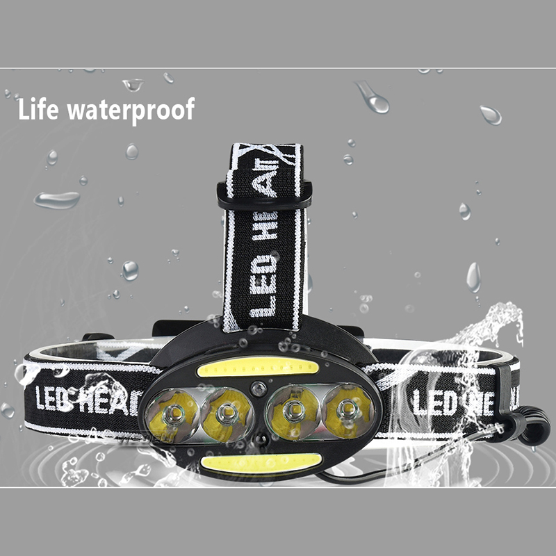 5000 lm Mini LED Lighting Headlight Body Motion Sensor Bike Charging headlamp USB Charging Outdoor Camping Flashlight 18650