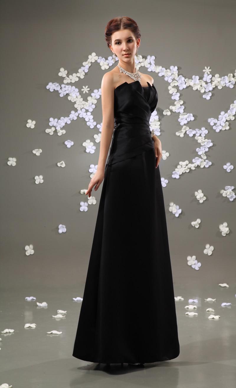 Best selling black satin a line floor length bridesmaid for Best selling wedding dresses