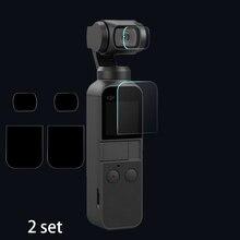 עבור DJI כיס 2 מסך + עדשת סרט מגן מצלמה 9H מגן כיסוי אביזרי לdji אוסמו כיס 4K Gimbal להגן 2 סט