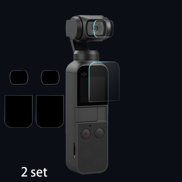 For DJI Pocket 2 Screen+Lens Film Protector Camera 9H Protective Cover Accessories For DJI OSMO Pocket 4K Gimbal Protect 2set