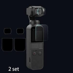 Image 1 - Pour DJI poche 2 écran + lentille Film protecteur caméra 9H housse de protection accessoires pour DJI OSMO poche 4K cardan protéger 2 ensemble