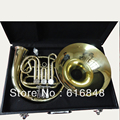 French Horn Students French Horn Single Row 3 - Valves Horn Musical Instruments Gold Lacquer Yellow Brass Hot New Case Wholesale