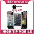 """Factory Unlocked Оригинальный Apple iphone 4S 8 ГБ/16 ГБ/32 ГБ/64 ГБ Мобильный телефон Двойной core Wi-Fi GPS 8.0MP 3.5 """"Сенсорный Экран iOS ИСПОЛЬЗУЕТСЯ"""