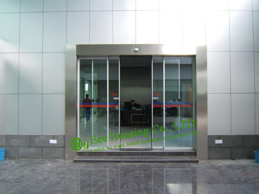 Sliding Door For Office Automatic Sliding Glass Door With 12mm Glass