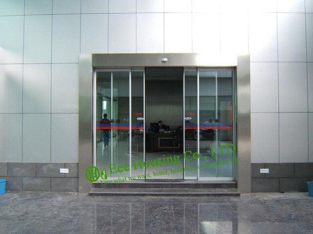 Porta scorrevole automatica per ufficio commerciale, porta a vetri ...