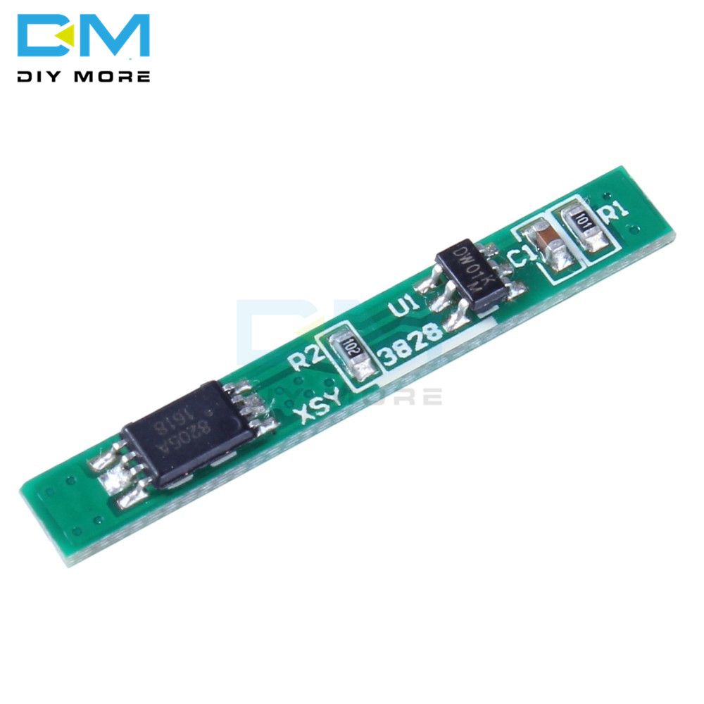 10Pcs <font><b>1S</b></font> 3.7V 2.5A Lithium <font><b>Battery</b></font> <font><b>Protection</b></font> <font><b>Board</b></font> BMS PCM PCB Polymer Over Charge Discharge Li-ion Protect Module image