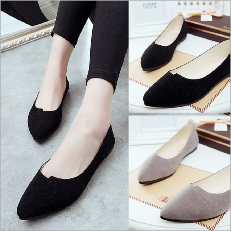 Fashion Irregular Shallow Flats Women Comfortable Solid Color Casual Woman Flats Shoes Pointed Toes Flat Heels Q0089