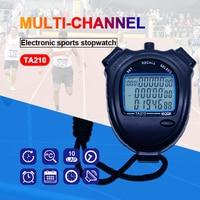 Thể thao đồng hồ bấm giờ Ba hàng của 10 kênh giây truy cập Theo Dõi và lĩnh vực thể thao đồng hồ bấm giờ Chạy một bộ đếm thời gian