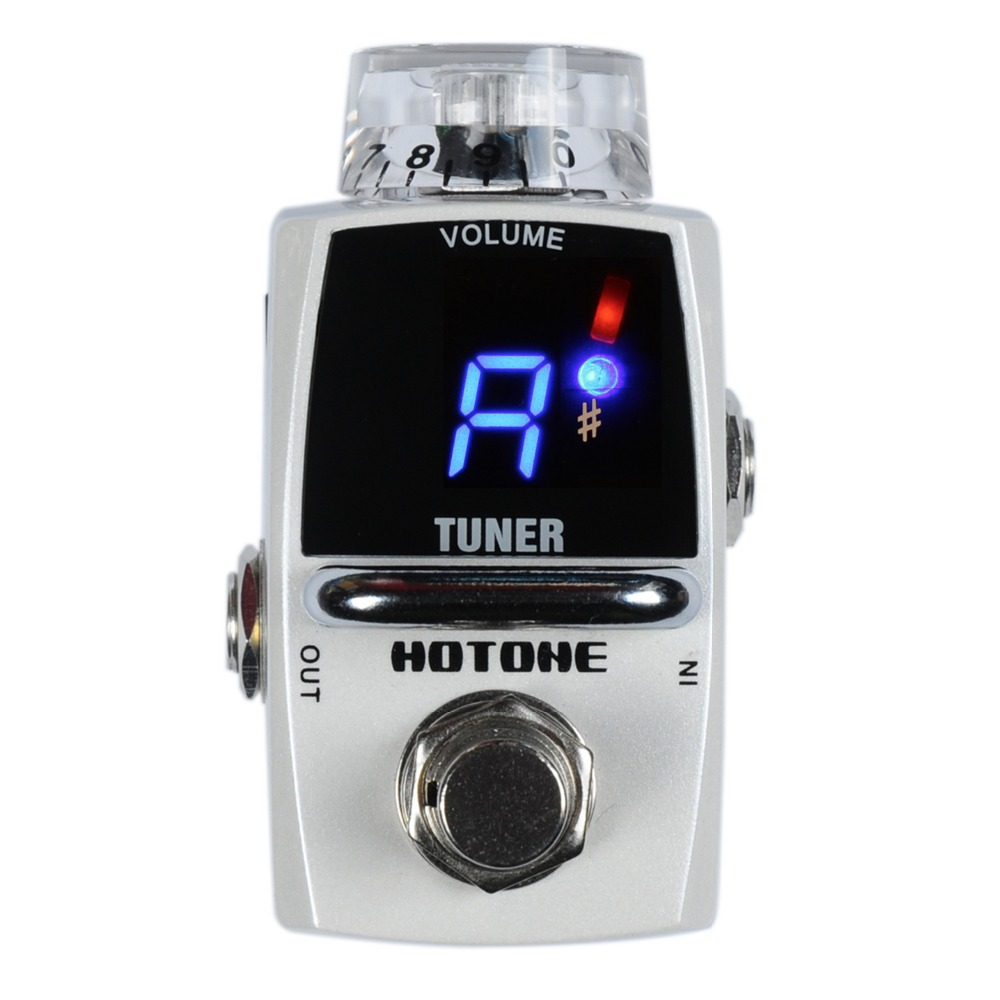 Hotone Electric Guitar Pedal Tuner Chromatic Stomp Box Robot True bypass 1pc spst momentary soft touch push button stomp foot pedal electric guitar switch m126 hot sale