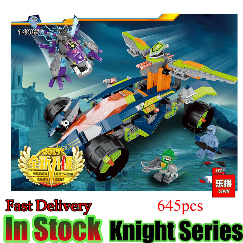 LEPIN 14035 645Pcs Nexus Knights Combination Building Blocks Bricks Educational Model Toys for Children Gift Kits Toy lepin 14018 8017 nexus knights siege machine model building kits compatible with lego city 3d blocks educational children toys