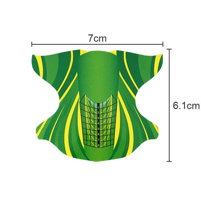 500 unids forma oval adhesivo Moldes para uñas de gel uv acrílico ...
