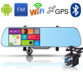 New 5.0 inch Android Car DVR Mirror Bluetooth Rearview Mirror GPS Navigator Car Camera Video Recorder Full HD 1080P Night Vision