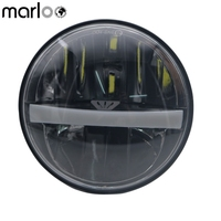 Marloo 5.75 inch Motorcycle Headlight Led Assemblies For Harley Davidson Sportster 883 XL 1200 Dyna 5 3/4 DRL Headlights