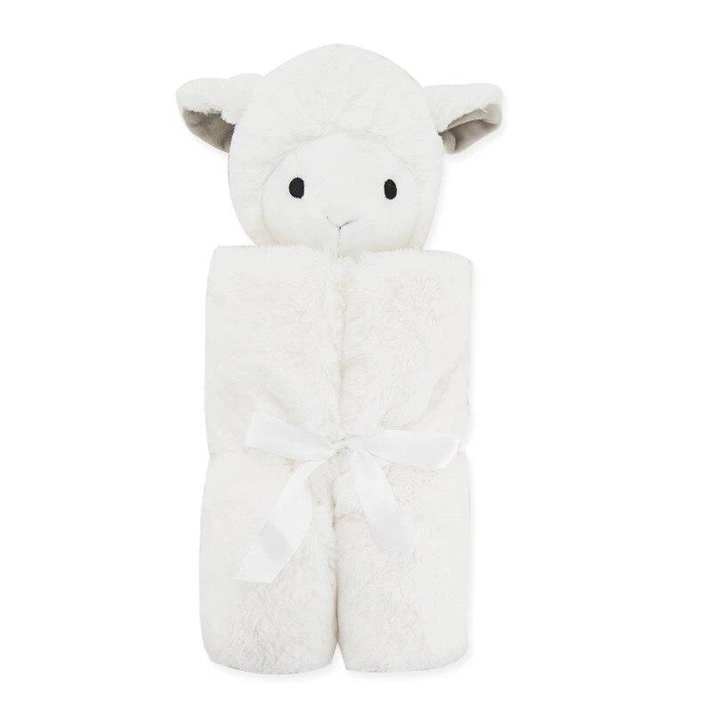 Baby Blanket Soft Warm Winter Crystal Velvet Warm Blanket Cotton Baby Winter Swaddling Infant Swaddle Plush Bedding Rabbit Bear