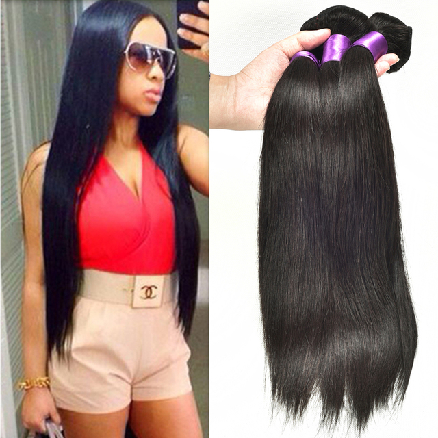 True Glory Hair Malaysian Straight Human Hair Extensions Straight