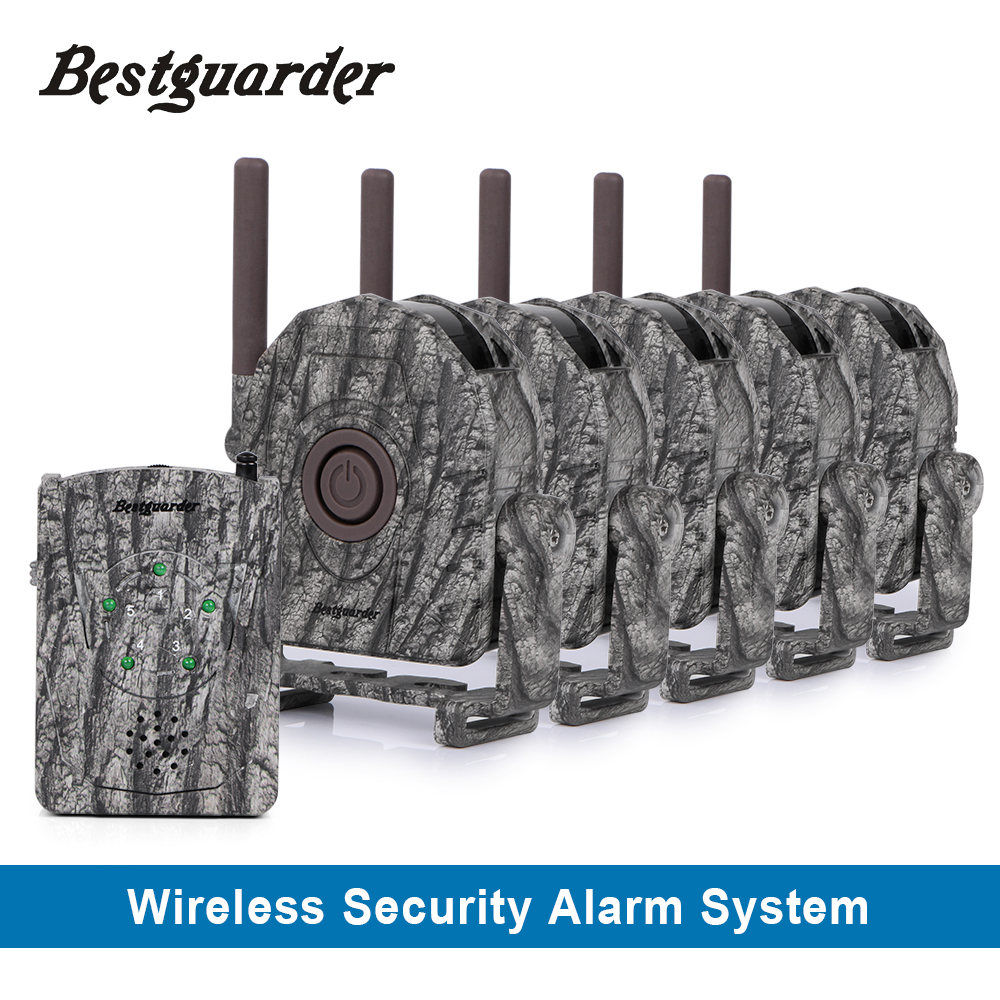 Wireless cordless hunting security alarm system with three alert for hunter to be informed of any animals approaching up to 300m