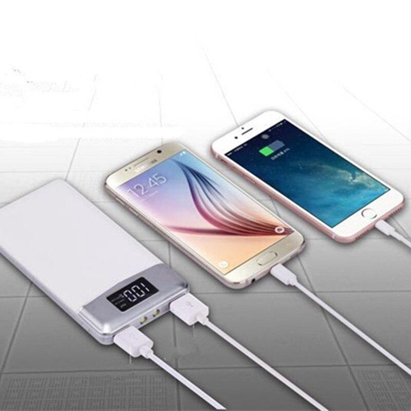 Цена за 2017 Роскошные Mobile Power Bank 20000 мАч POWERBANK Портативное зарядное внешняя батарея 20000 мАч мобильного телефона зарядное устройство резервного копирования полномочия