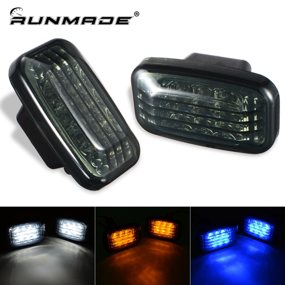 runmade 1Pair For 1998-2007 Toyota Land Cruiser J70 80 100 Series Side Marker Signal Smoked Light Lamp Car Styling