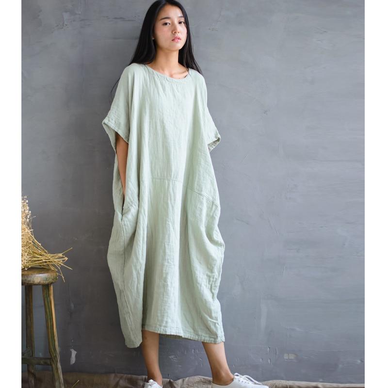 SCUWLINEN 2019 Musim Semi Musim Panas Gaun Vintage Panjang Plus - Pakaian Wanita - Foto 2