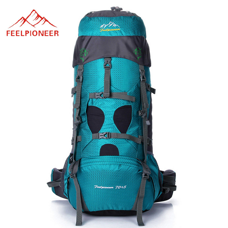 FEEL PIONEER 75L Outdoor Professional Climbing Backpack With Steel Frame Camping Hiking Sports Bag With Rain Cover XA318WD bubm professional dj bag for pioneer