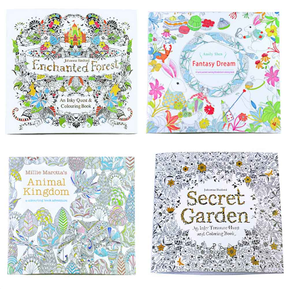Secret Garden Relieve Stress Children Adult Painting Drawing Book 24 Pages Time Travel Kill Time