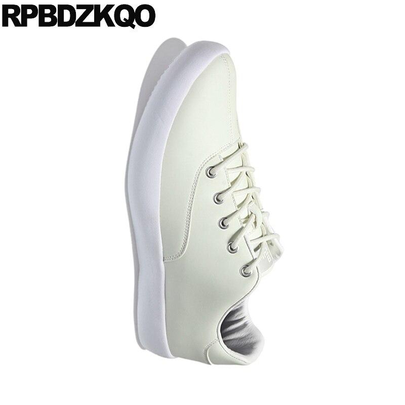 Luxe Chaussures Nouveau Confort De Blanc Haute Mâle En Taille Formateurs Creepers Discoloration Plus La Décontractée Skate Designer Hommes Cuir Sneakers Qualité 2018 UVzMpqS