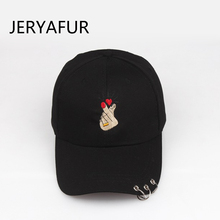2018 JERYAFUR Korean Finger Hoop Baseball Cap for Men Women Ladies Sun Visor  Men s Outdoor Sports Cap Snapback Hats Dad Hat 5e69c0d68298