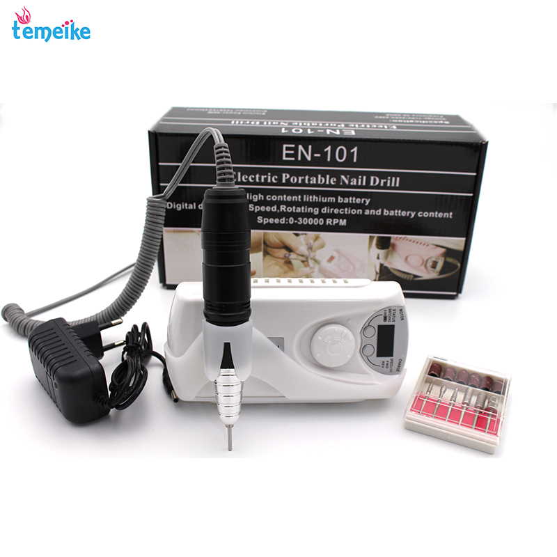 Rechargeable 30000RPM Electric Nail Drill Machine Acrylic Nail File Drill Manicure Pedicure Kit Set send ceramic nail drill bit цены онлайн