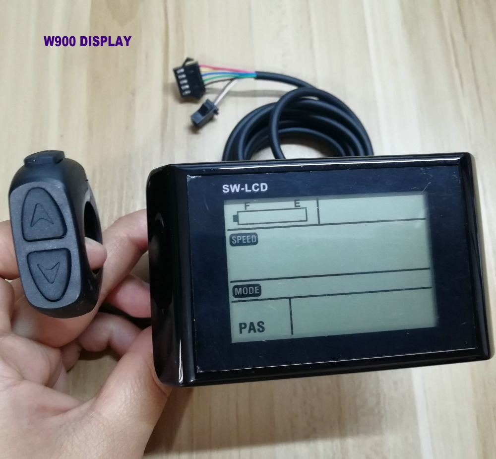 Contrôleur BLDC 400w450w500w600w800w1000w1200w + écran LCD w900 24v36v48v60v pour vélo électrique scooter ATV vtt indicateur de batterie